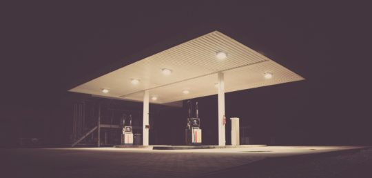 A picture of a gas station